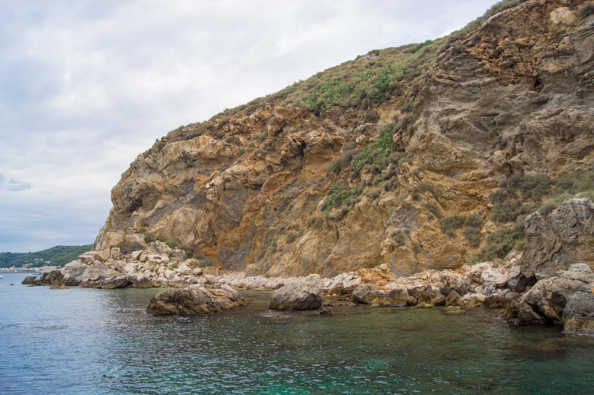 Rocks in the Mediterranean Sea near the town of Estartit, located on the Costa Brava