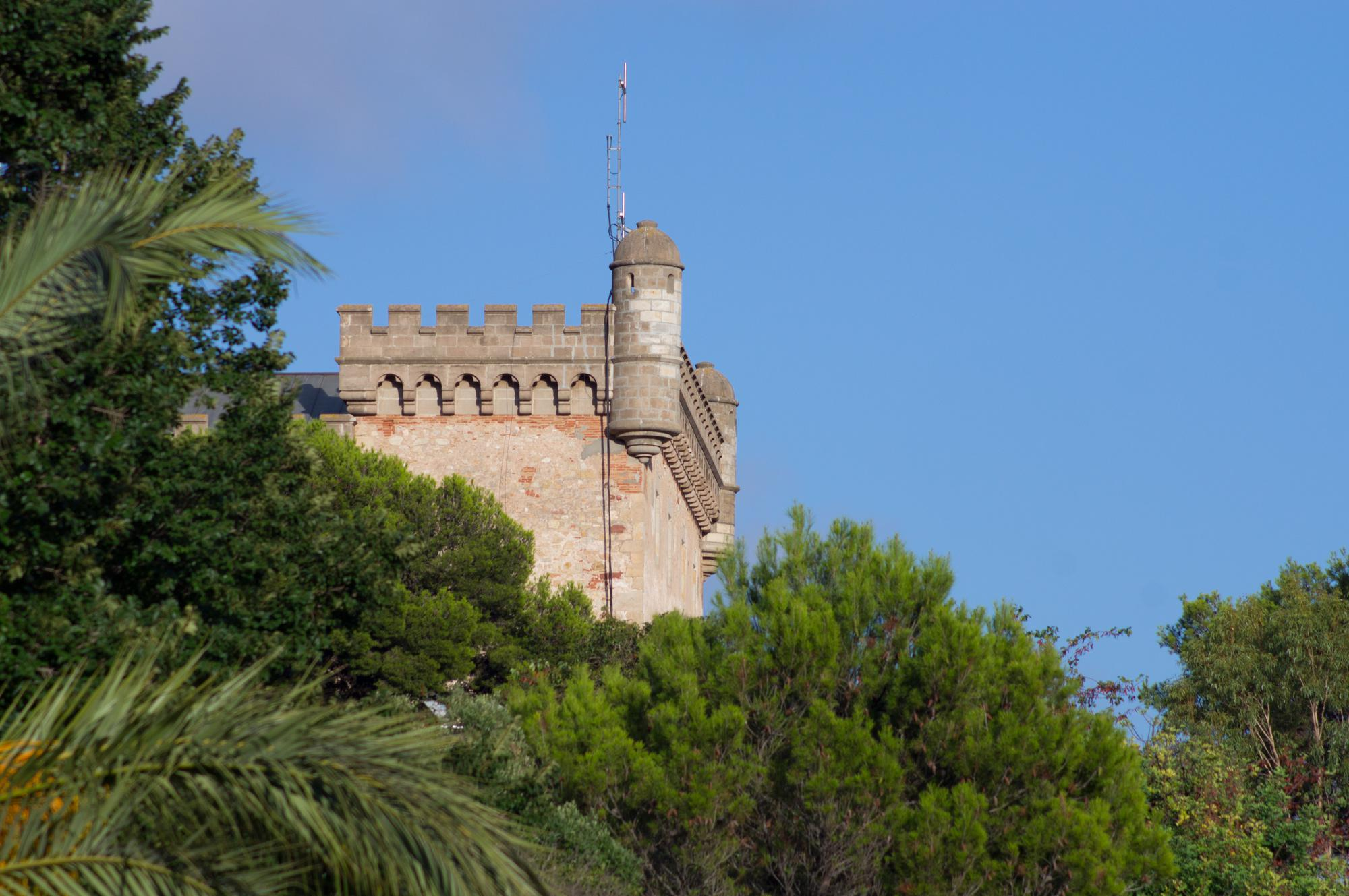 View of the castle in the town of Castelldefels near Barcelona, Catalonia