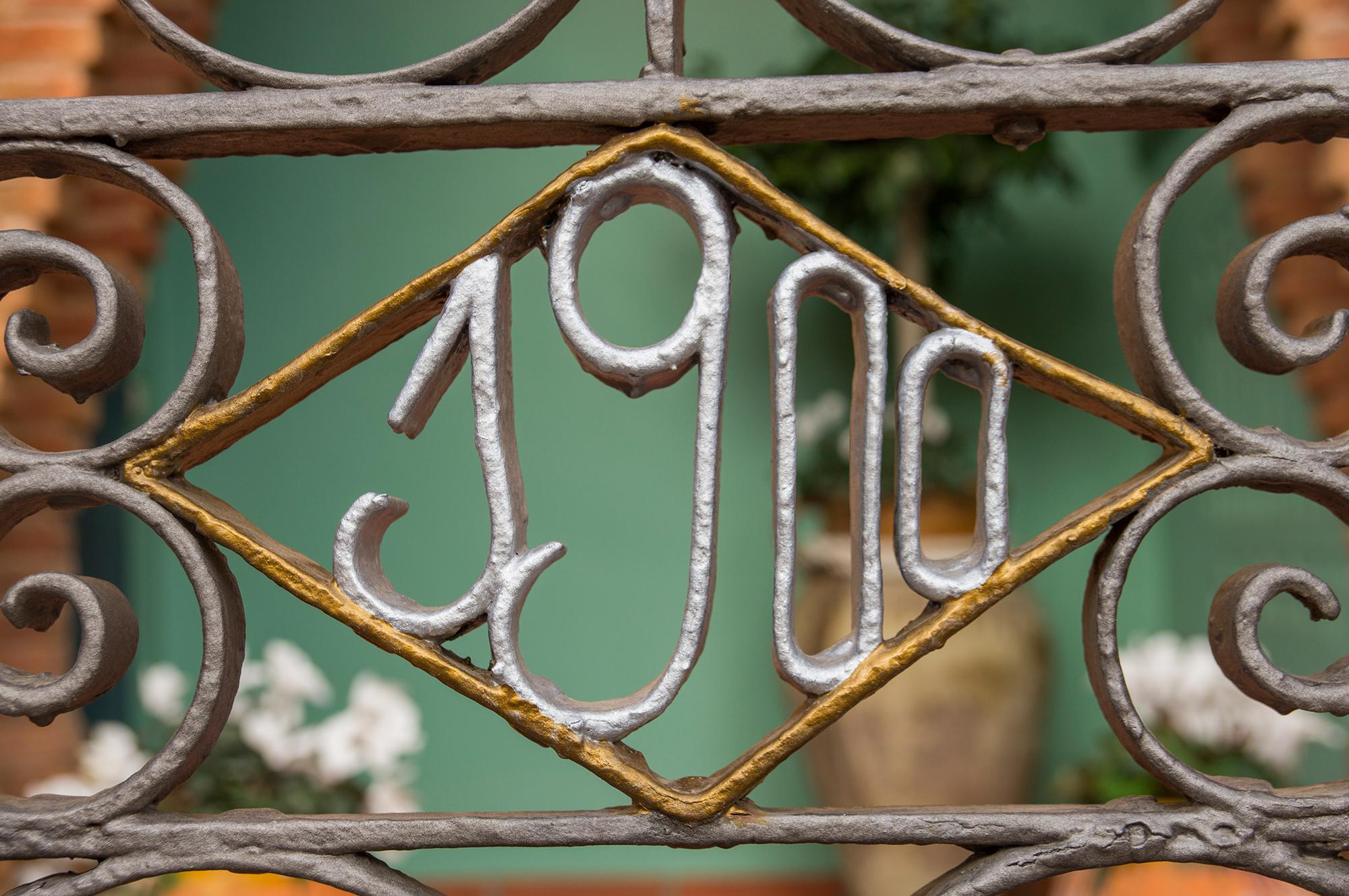 Wrought iron gate in Colonia Guell in Catalunya