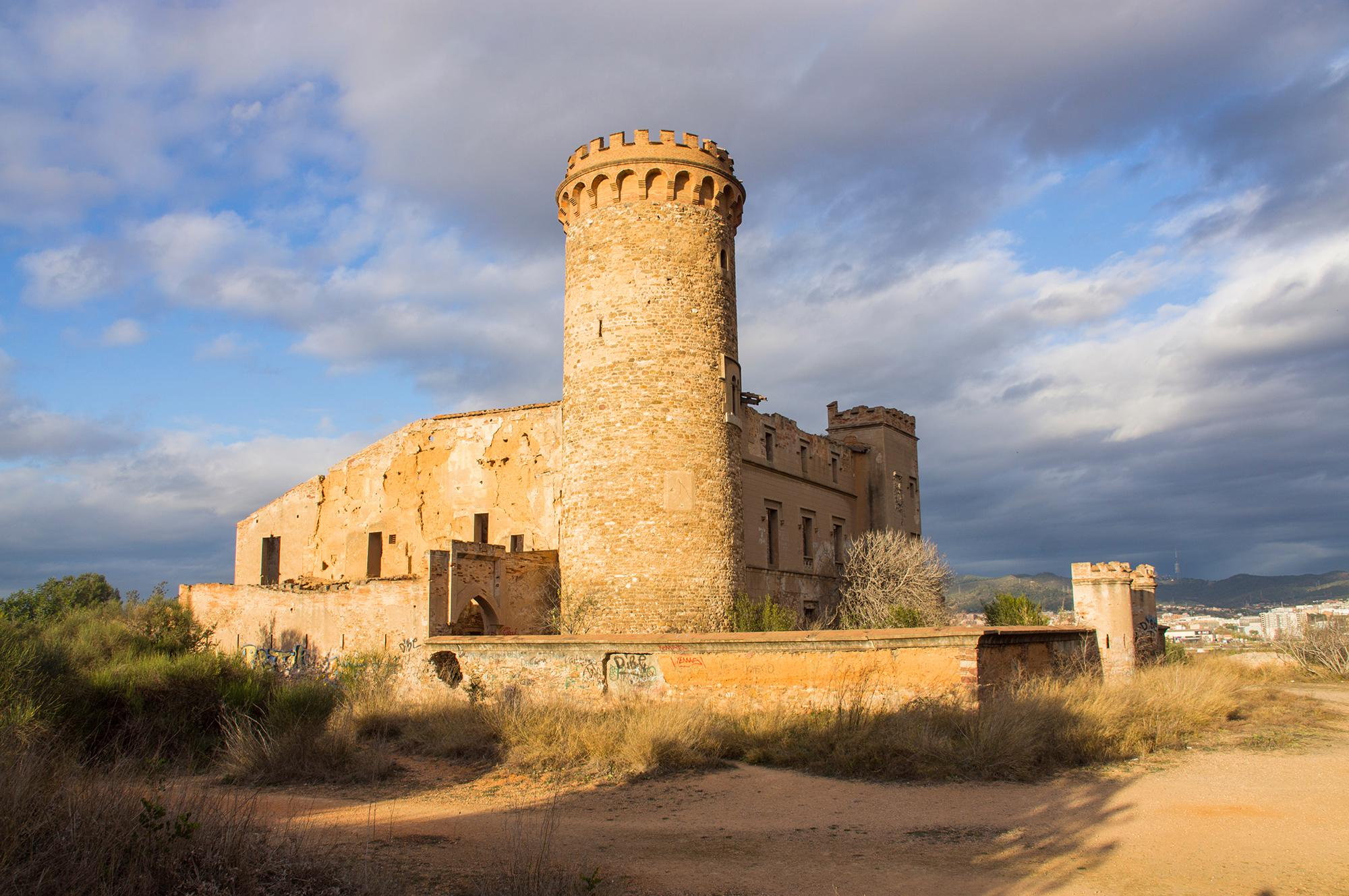 Torre Salvana in Colonia Guell in Catalonia