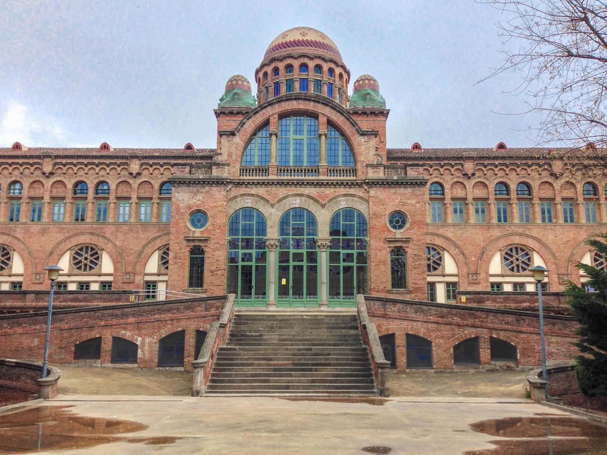 The building of the hospital complex of Sant Pau in Barcelona area Ginardo