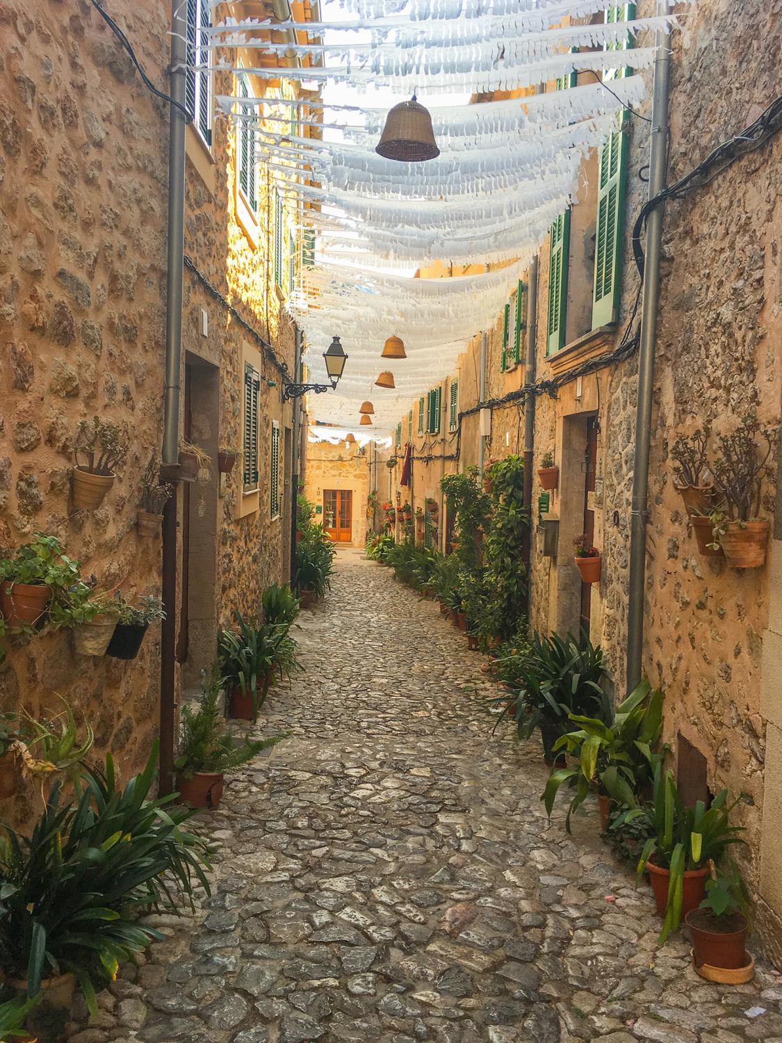 Carrer de na Búger in the village of Valldemossa, Mallorca